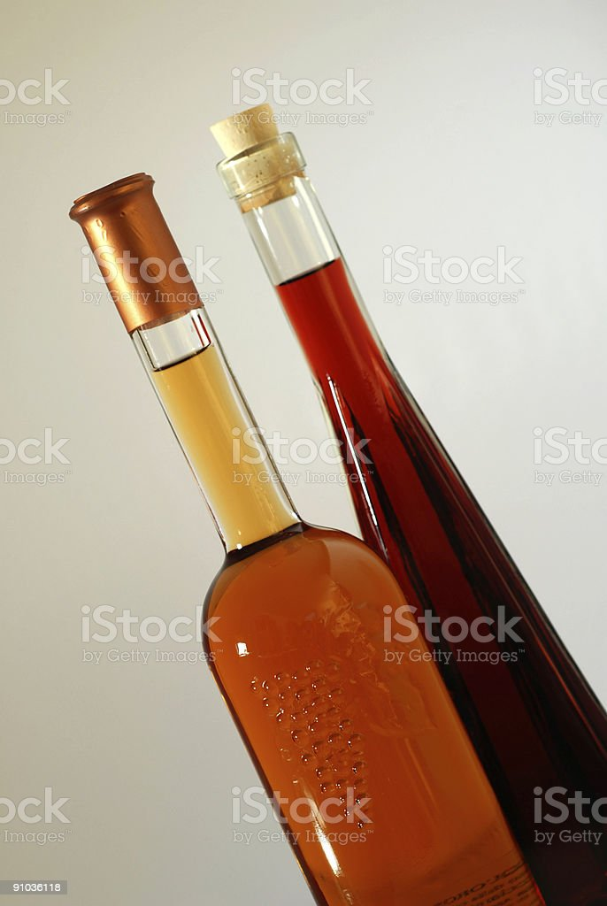 two bottles of liquor royalty-free stock photo