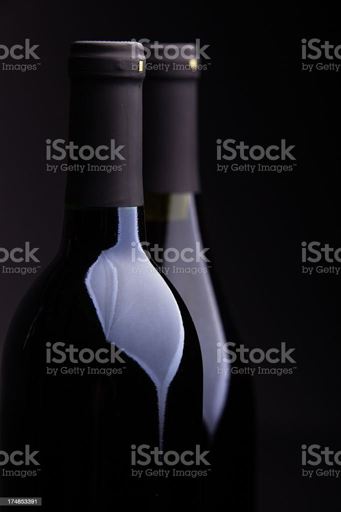 Two Bottles of Wine royalty-free stock photo