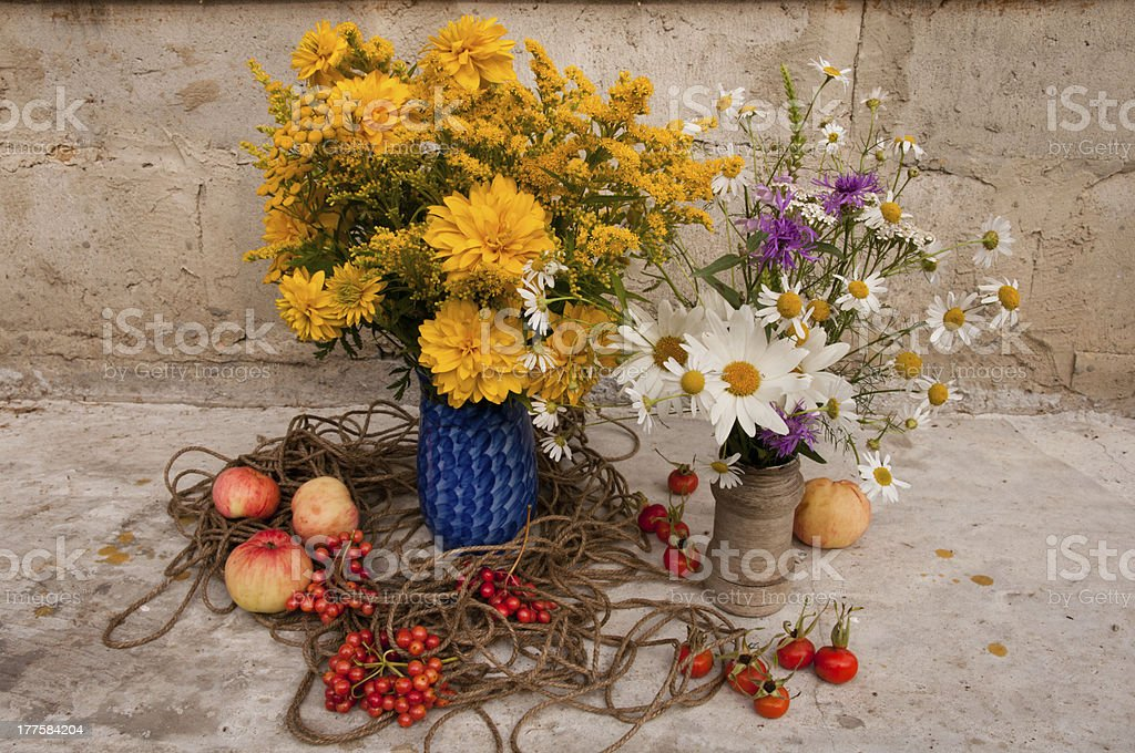 two bouquets royalty-free stock photo