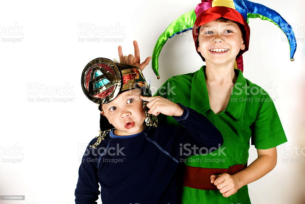 two boy royalty-free stock photo