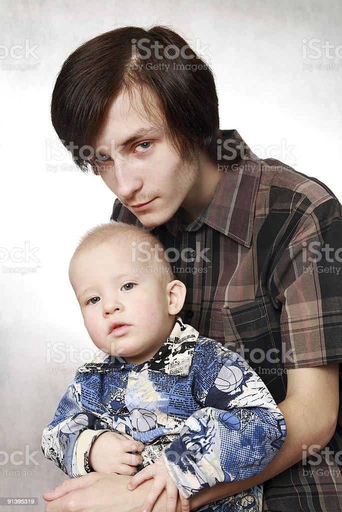 Two boys stock photo