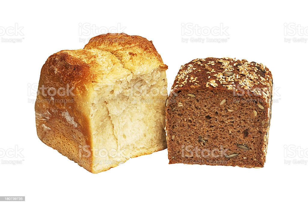Two breads royalty-free stock photo