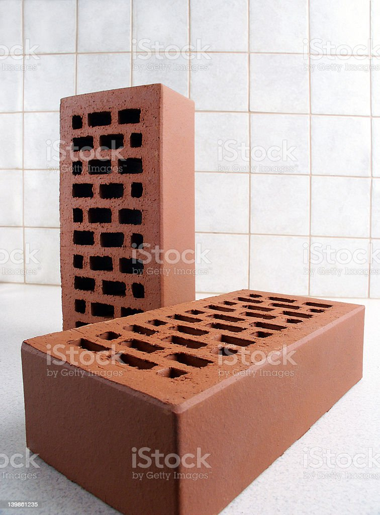 Two Bricks stock photo