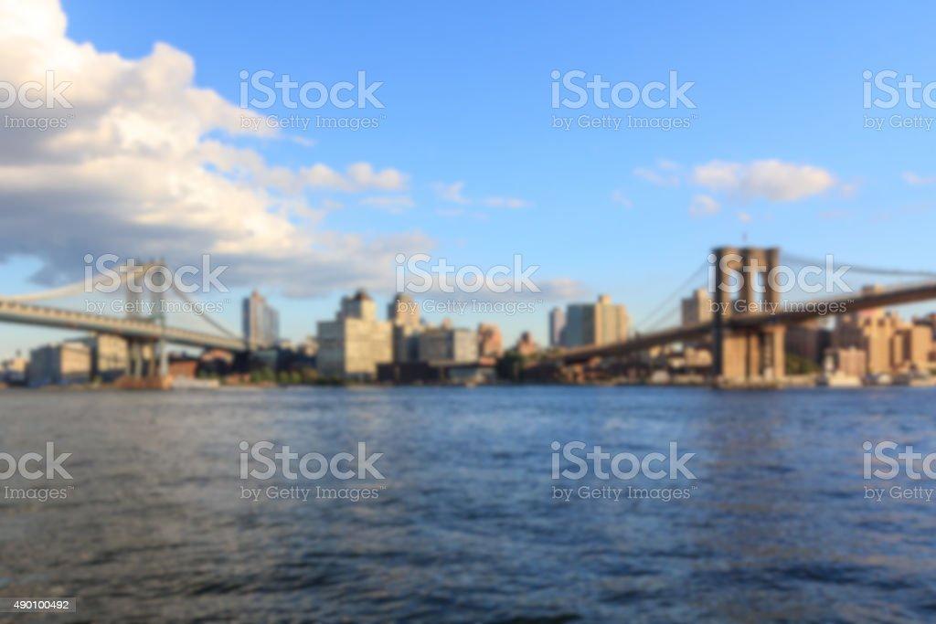 Two Bridges Blur stock photo