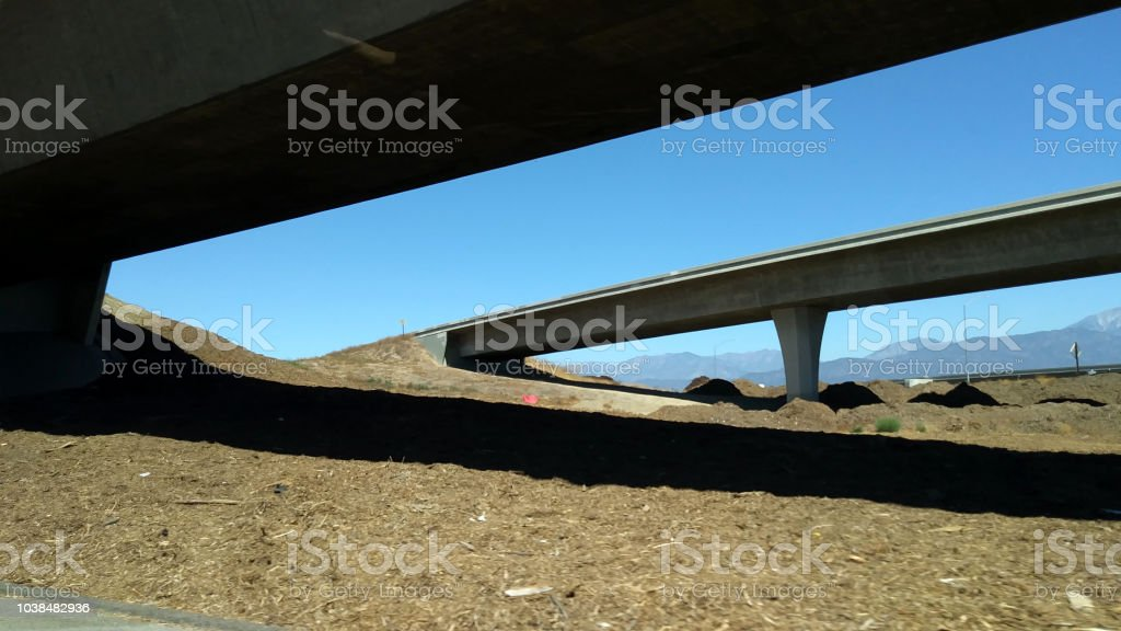 Two Bridges in Los Angeles County stock photo