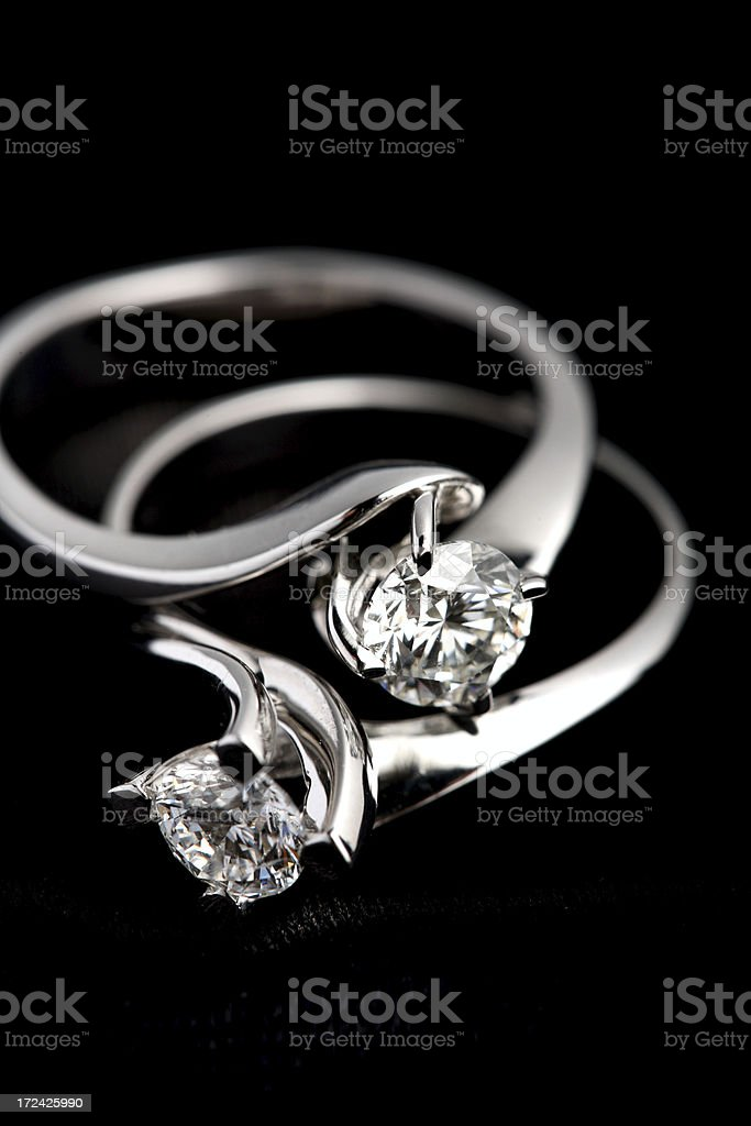 Two Brilliant Ring royalty-free stock photo