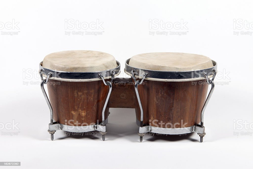 Two brown drums stock photo