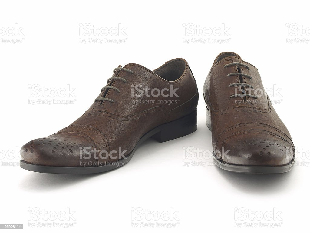 Two brown shoes royalty-free stock photo