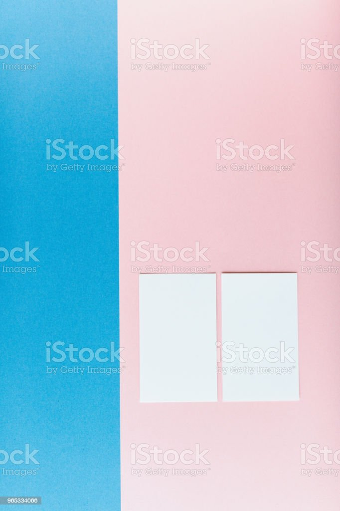 Two business cards on multicolored background zbiór zdjęć royalty-free