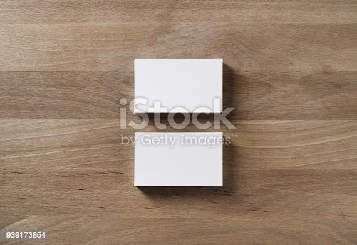 istock Two business cards 939173654