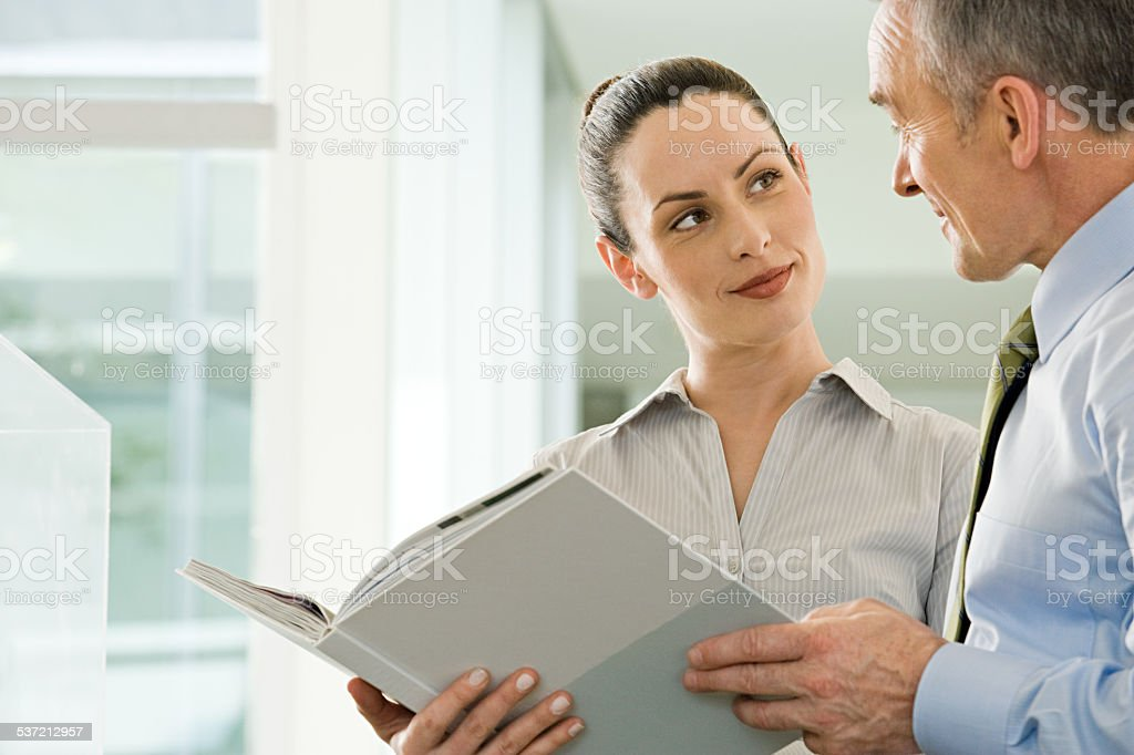 Two business colleagues stock photo