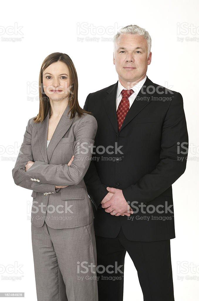 Two business executives on white royalty-free stock photo
