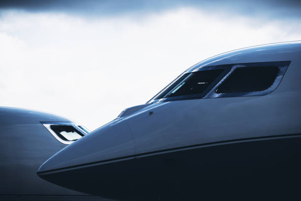Two Business Jets stock photo