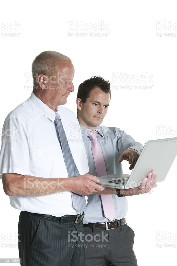 Two Business Men royalty-free stock photo