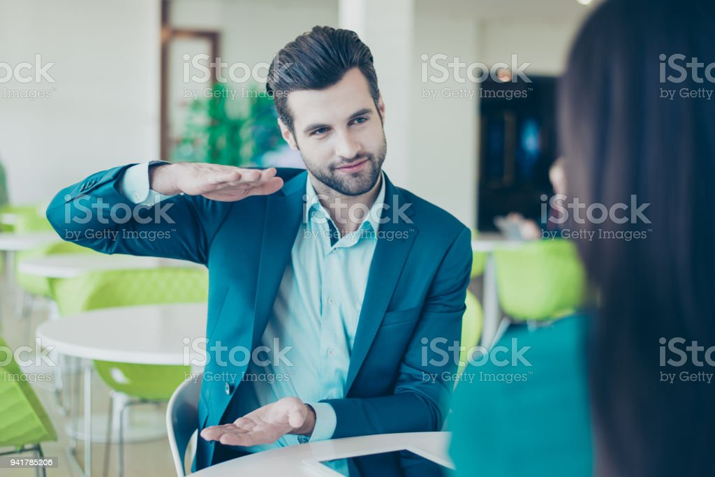 Two Business Partners Having A Meeting In A Restaurant Businessman ...