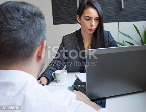 546183298 istock photo two business partners having a meeting in the office 624988792