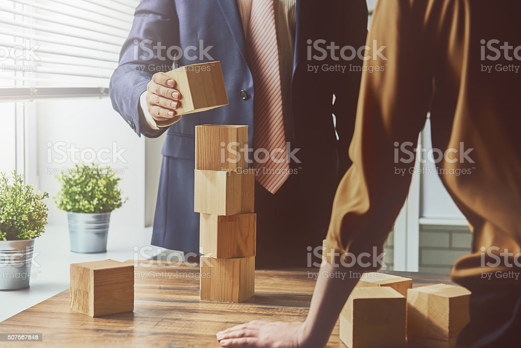 two business persons stock photo
