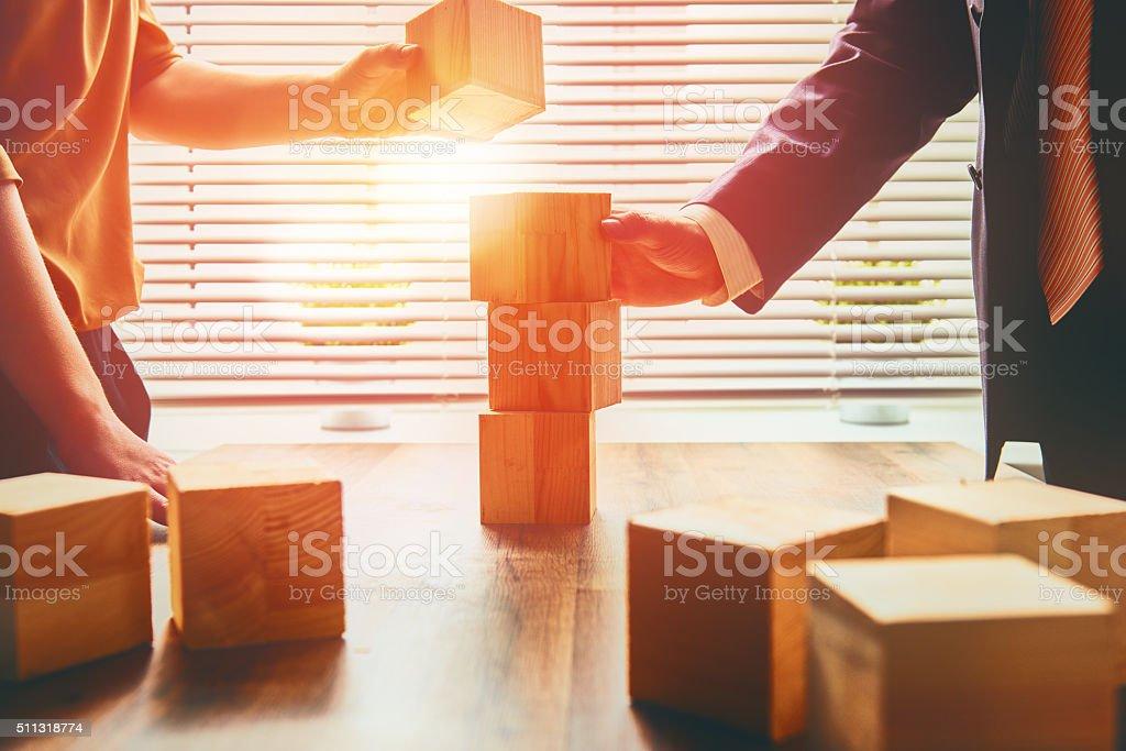 two business persons two business persons plan a project Activity Stock Photo