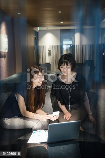 589445574 istock photo Two business women in a meeting 542569916