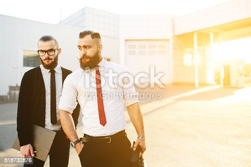 istock Two businessman at work 518732876