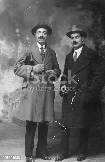 istock Two Businessmen from 1917.Black And White 108224980