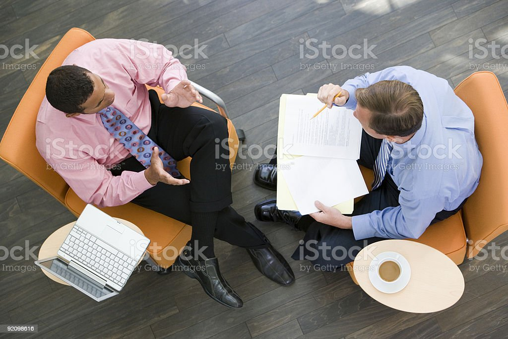 Two Businessmen Having Meeting royalty-free stock photo