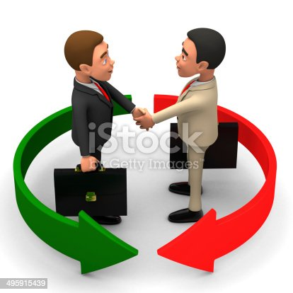 istock two businessmen on a white background shake hands 495915439