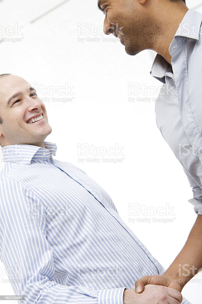 Two Businessmen Shaking Hands royalty-free stock photo