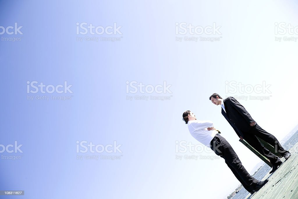 Two Businessmen Standing royalty-free stock photo