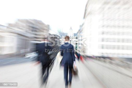 istock Two Businessmen Walking in London 186776430