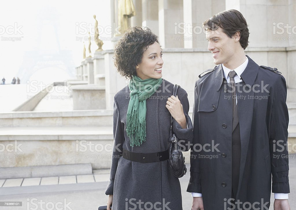 Two businesspeople outdoors royalty-free stock photo