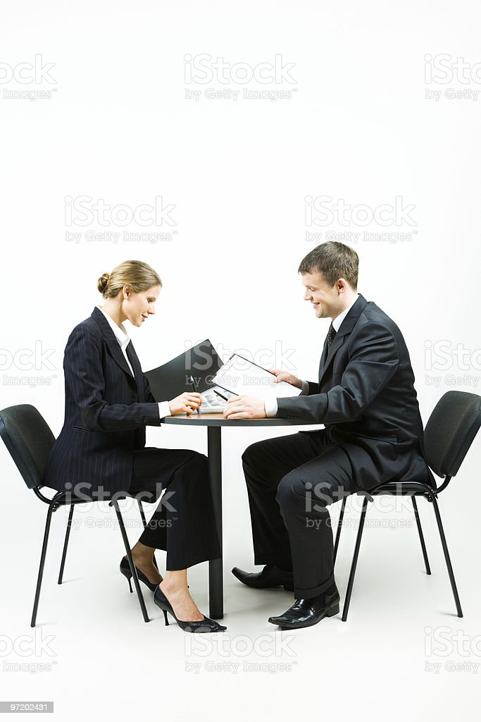 Two businesspeople royalty-free stock photo