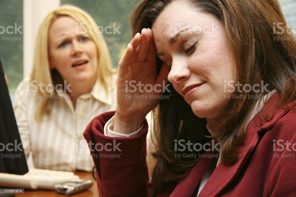 Two businesswomen arguing royalty-free stock photo