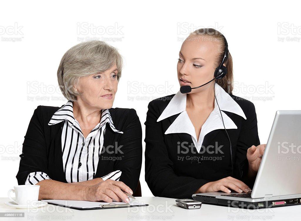 Two businesswomen stock photo
