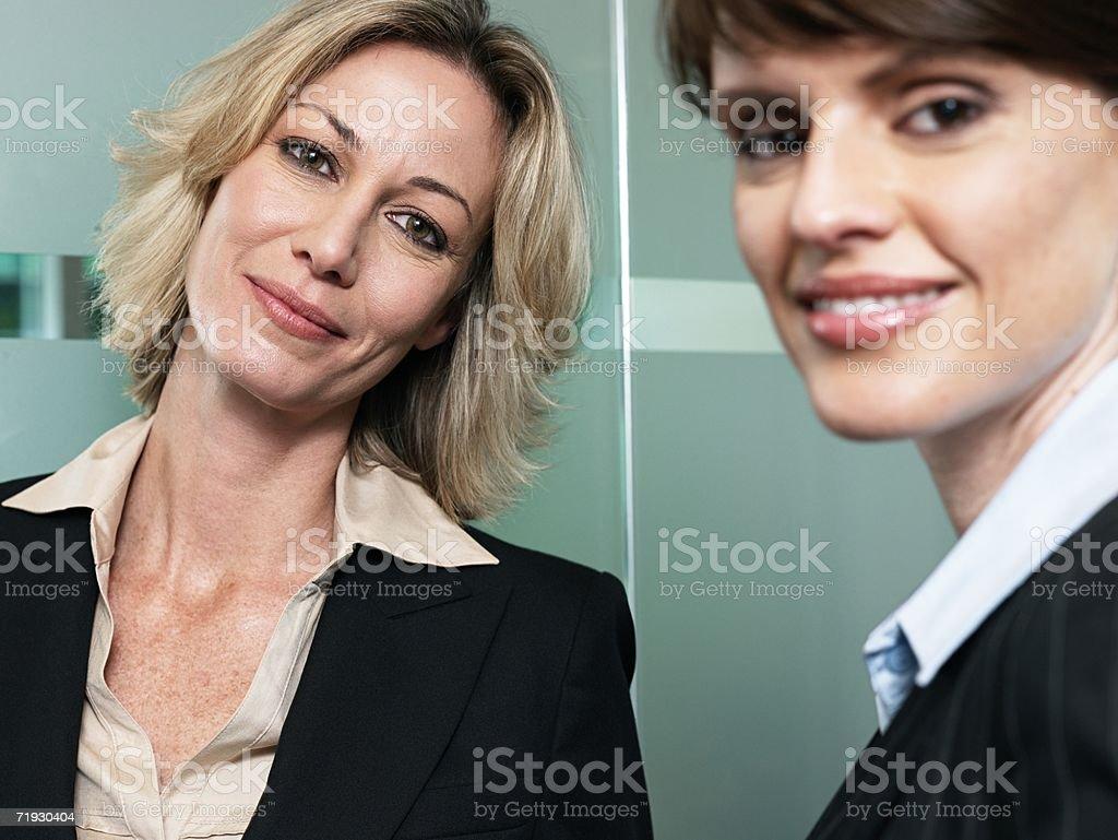 Two businesswomen royalty-free stock photo