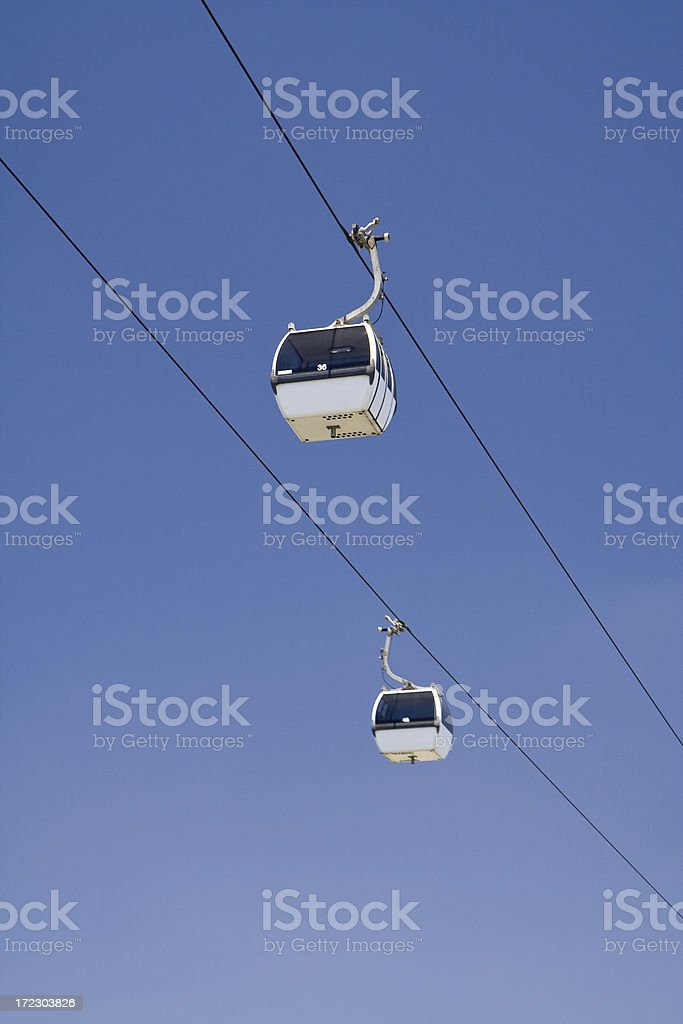 Two Cable Cars royalty-free stock photo