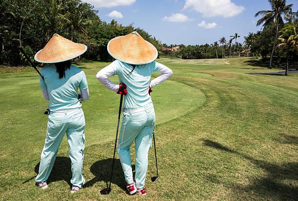 Zwei Caddies auf Bali Golf Course – Foto