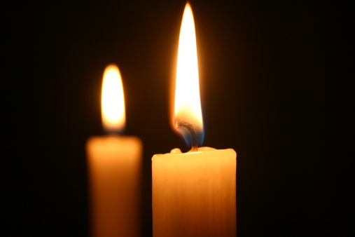 Two Candles Stock Photo - Download Image Now