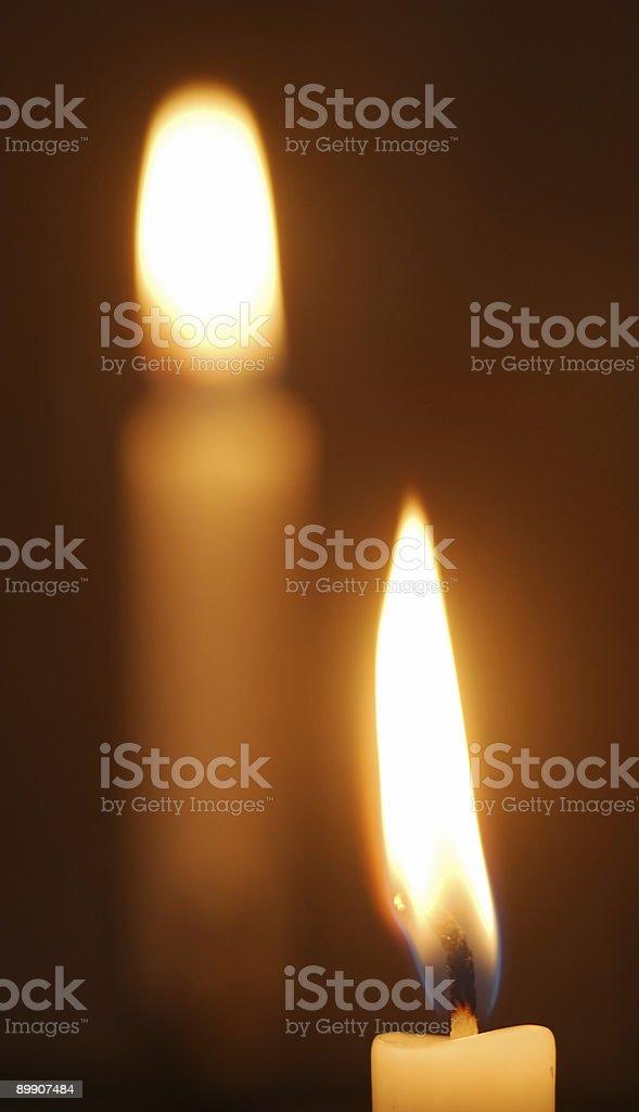 Две свечи Стоковые фото Стоковая фотография