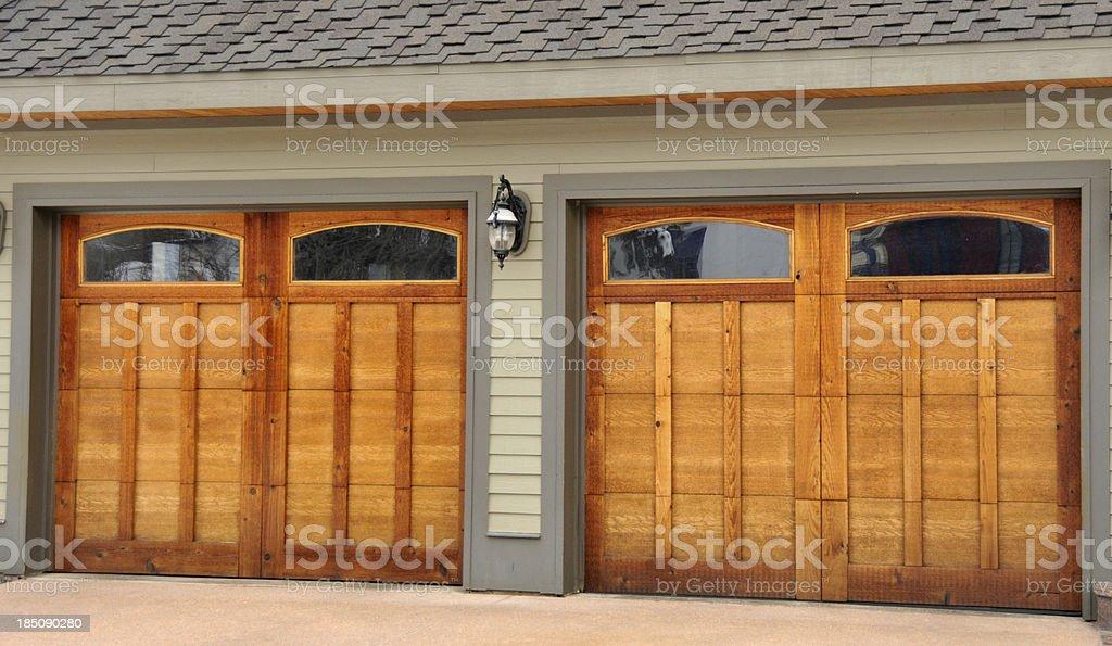 Two Car Garage stock photo