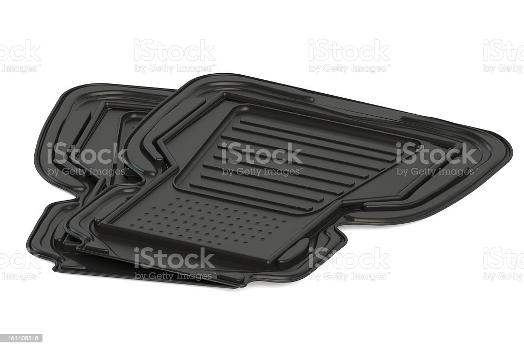 two car mats stock photo