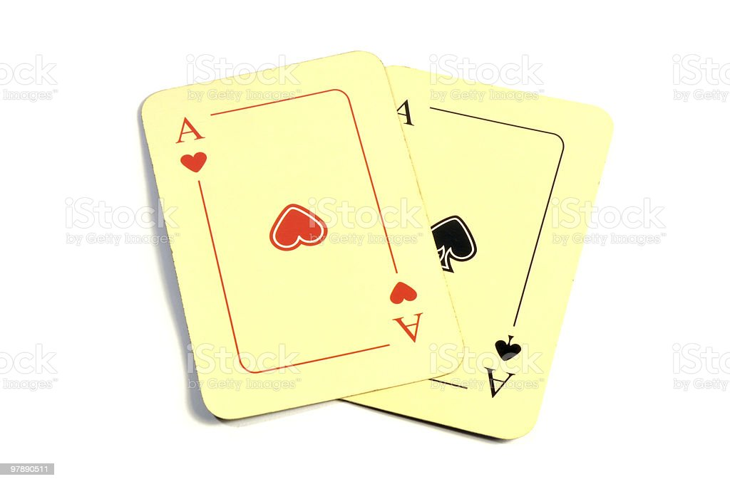 two cards royalty-free stock photo
