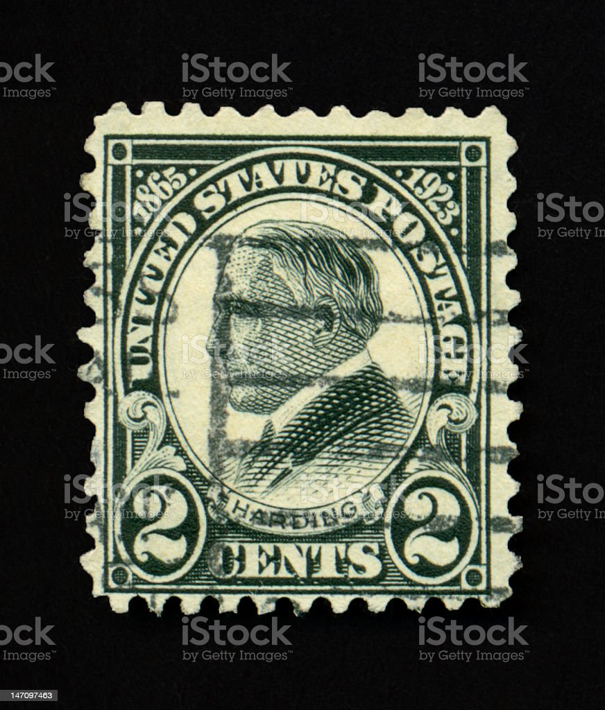 Two Cent Harding Stamp Royalty Free Stock Photo