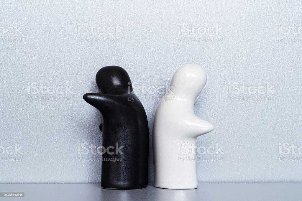 Two ceramic figures stock photo