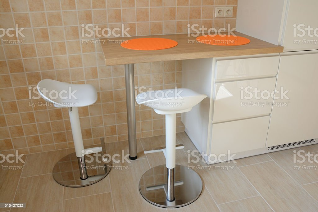 Two Chairs At Kitchen Table Stock Photo Download Image Now Istock