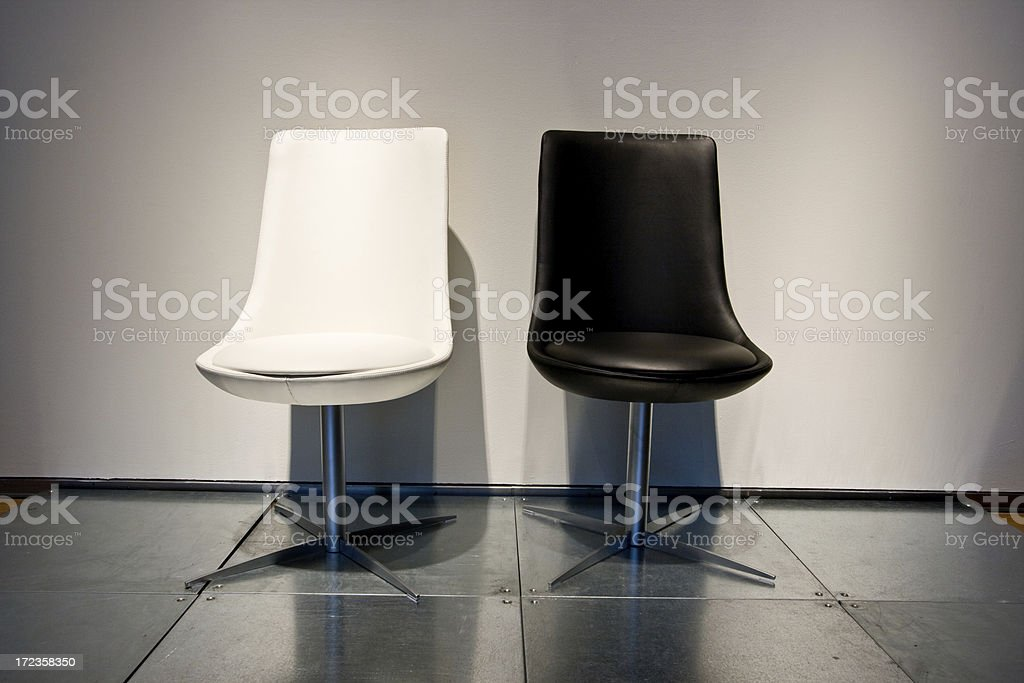 Two Chairs, Black and White royalty-free stock photo