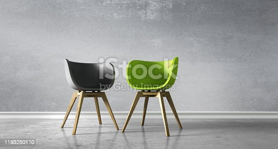 istock Two Chairs - Discussion 1193250110