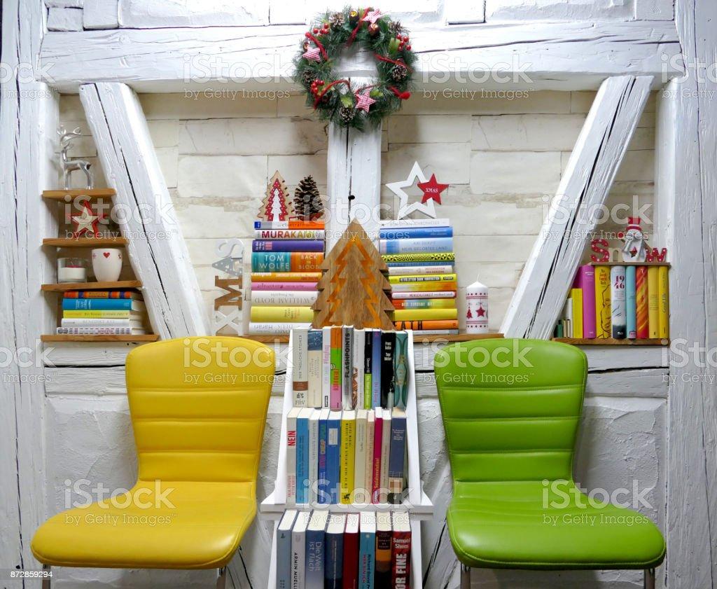 Bookshelf Chair Christmas Ornament Tree