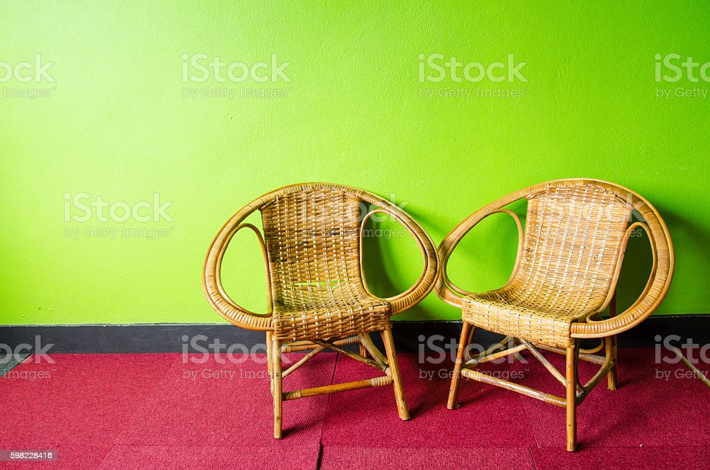 Two Chairs in the Green Room foto royalty-free