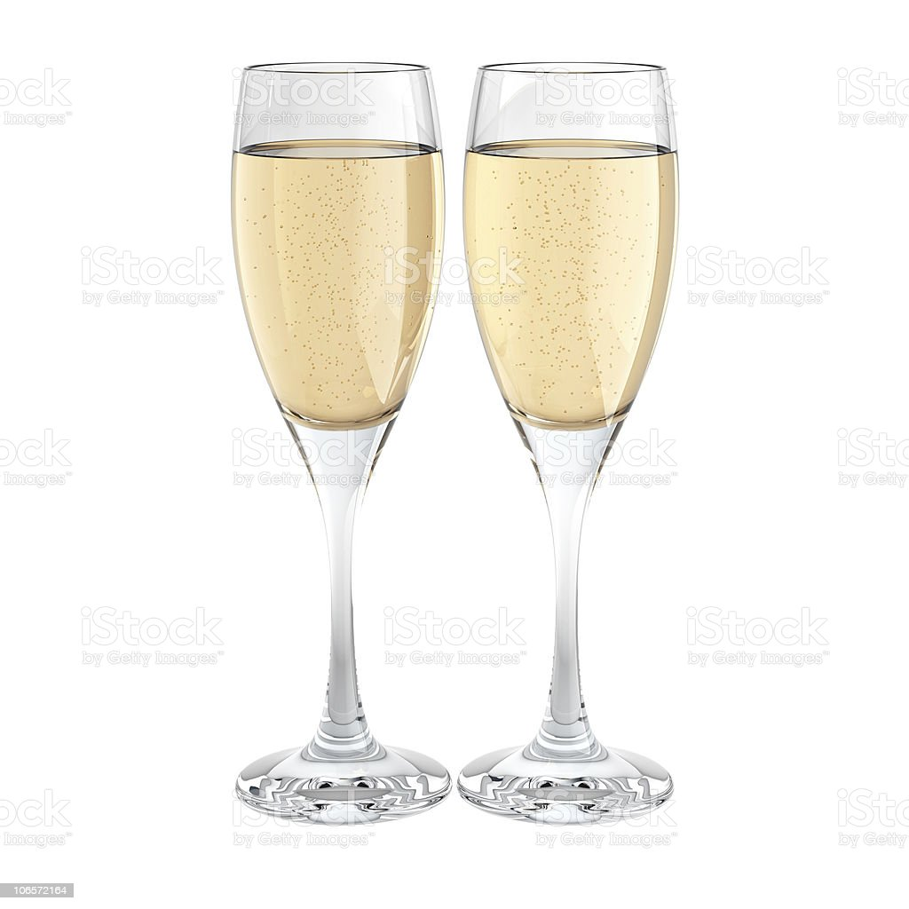 two champagne glass royalty-free stock photo